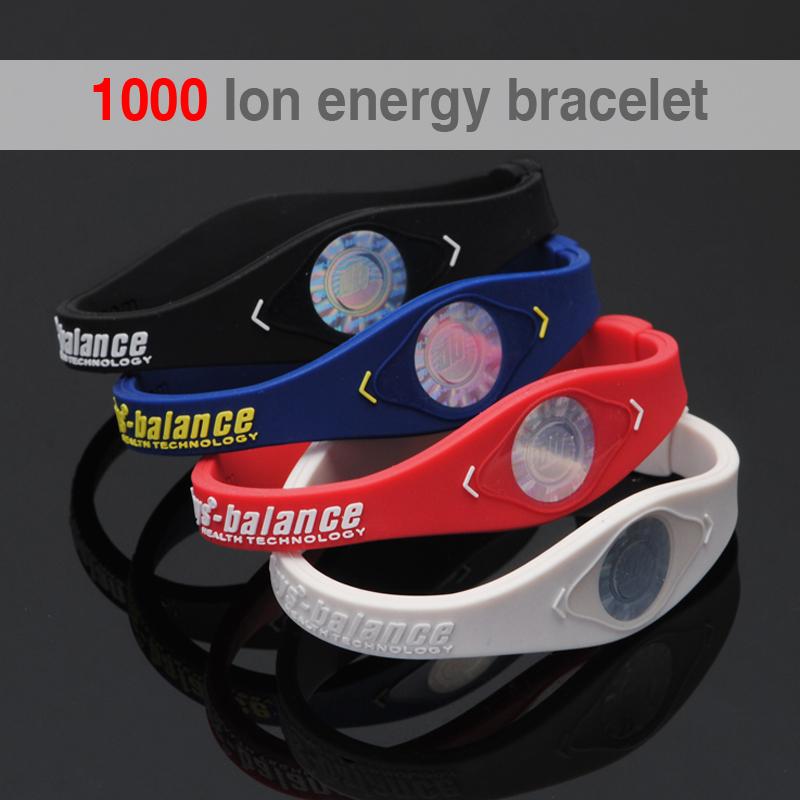 1000 ion Bio Elements Energy Bracelet Silicone Bracelet with Hologram Bracelets Power Bands Balance Energy Wristband With Retail(China (Mainland))