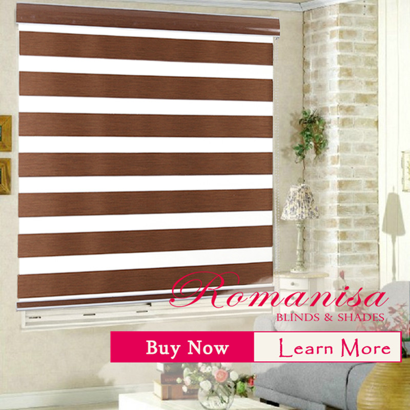 Premium Blinds 100% Polyester Kitchen Double Layer
