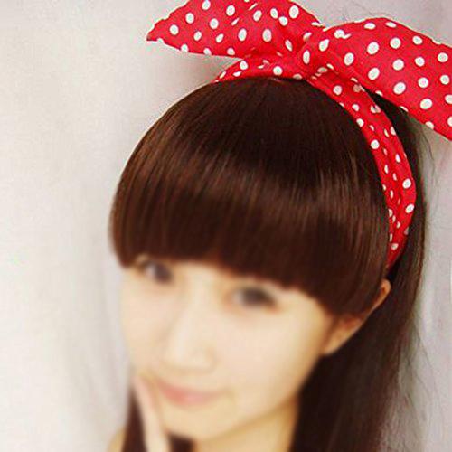 NEW Hair band Polka dot hair rope for girls Rabbit Ears headband 1pc(China (Mainland))