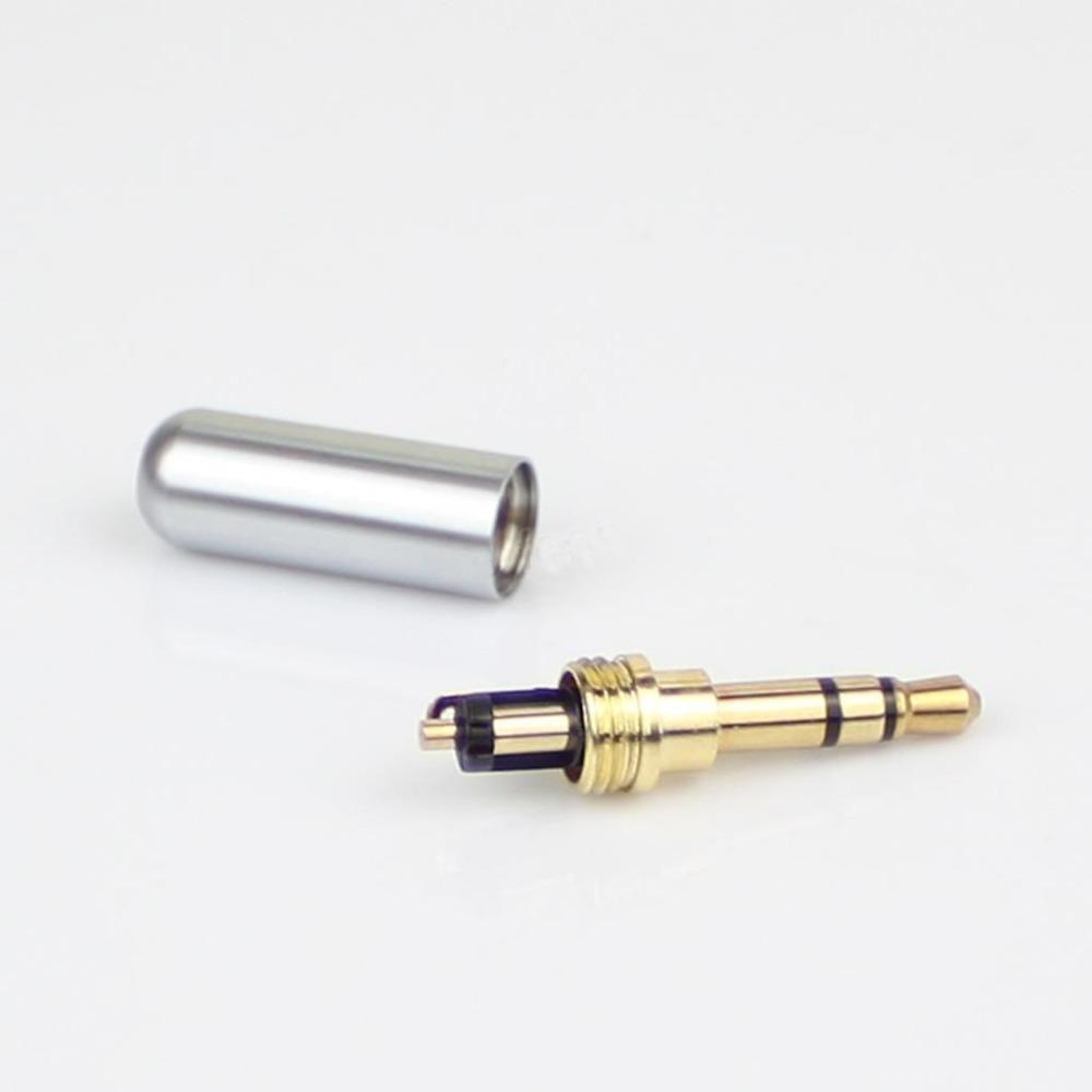 freeshiping 3 pole male repair earphones jack plug connector audio soldering silver in. Black Bedroom Furniture Sets. Home Design Ideas