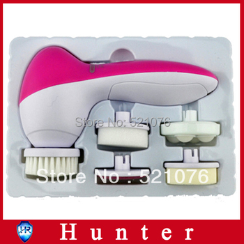 Health care 5 in 1 beauty facial cleaner for remover Electric Spa Brush pore Cleaning Skin Care face cleansing massager