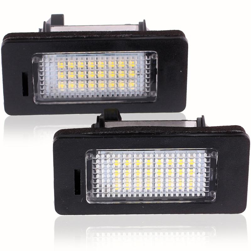 2Pcs LED License Plate Lights SMD3528 6000K Number Plate Light For BMW E82 E88 E90 E92 E93 E39 E60 Sedan M5 E70 X5 E71 E72 X6(China (Mainland))