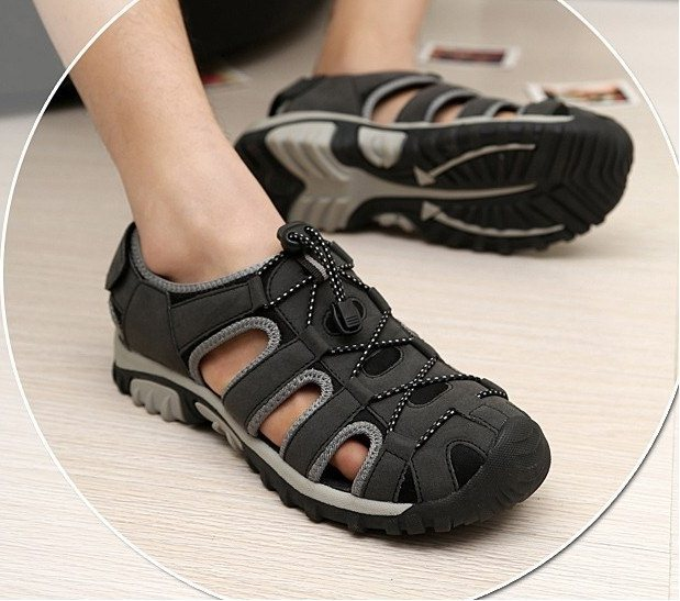 F9295 2015 Size38-45 Men's Fashion Casual Cut-Out Closed Toe Outdoor Sandals Teenagers Beach Hiking - Sandy's Store store