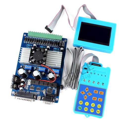 New 3 axis cnc stepper motor driver tb6560 set lcd for Cnc stepper motor controller
