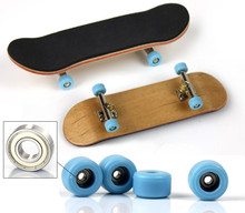 144set New Professional Maple Wood Finger Skateboard Nickel Alloy Stents Bearing Wheel Fingerboard Adult Novelty Item Child Toy(China (Mainland))