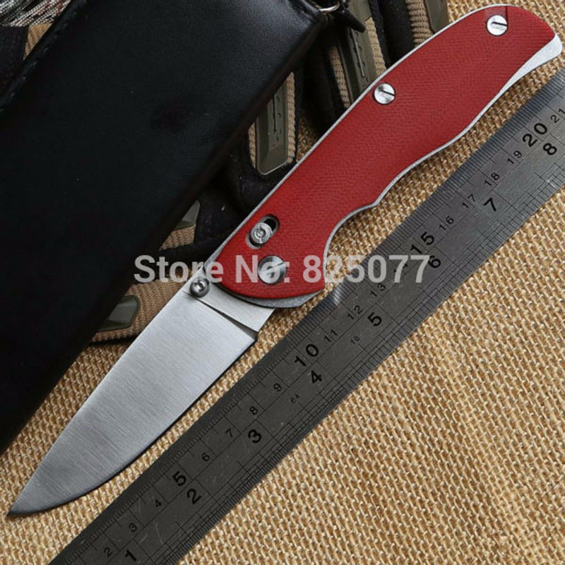 Buy High quality tabargan 95 folding knife D2 blade G10 handle outdoor survival camping hunting tactical pocket knife EDC tools cheap