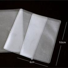 10pcs Dustproof Clear Card Holders Soft Plastic Credit Card Protectors Bussiness Card Cover ID Holders 9.6x6cm(China (Mainland))