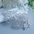 Twigs Haircombs Hairpins Hairwear Wedding Fashion Jewelry Bride Haircomb Rhinestone Non nickel Silver Plated Accessories Combs