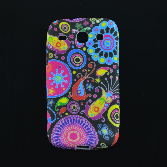 1PCS Soft Flower Design UK flag Cell Phone Case Cover Skin For Samsung Galaxy Core I8260 I8262(China (Mainland))