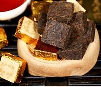 250 г Юньнань спелых Пуэр кирпичный чай Шу ча, Мэн Хай старый Чайное дерево, ГУ Шу материалы, здравоохранения желудка теплой пу эр чай
