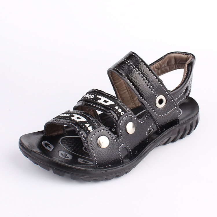 J.G Chen 2015 New Summer Boys Shoes Genuine Leather Children Sandals Fashion Kids Shoes EU 26-31 Best Price High Quality 2 Color