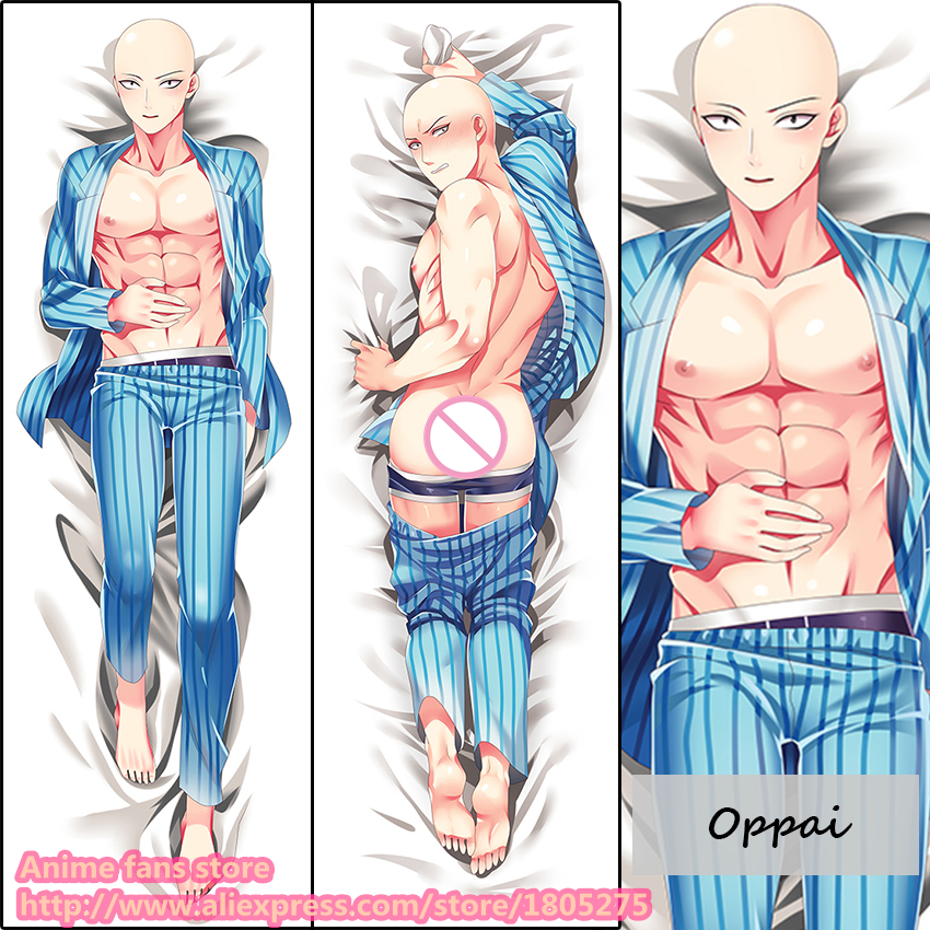 Cool Anime One Punch-man Oppai Male BL Japanese Pillowcase Pillow Case Cover decorative Hugging Body  -  fans store store