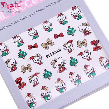 Sassy girl nail art applique finger sticker 3d christmas bride accessories diy finger decoration