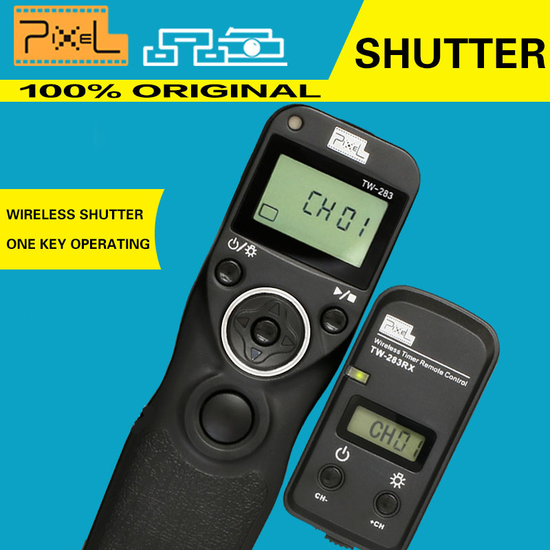 Pixel TW283 TW-283/S1 Wireless Timer Shutter Release Remote Control For Sony DSLR a900 a850 a700 a560 a65 a77 Konica Minolta(China (Mainland))