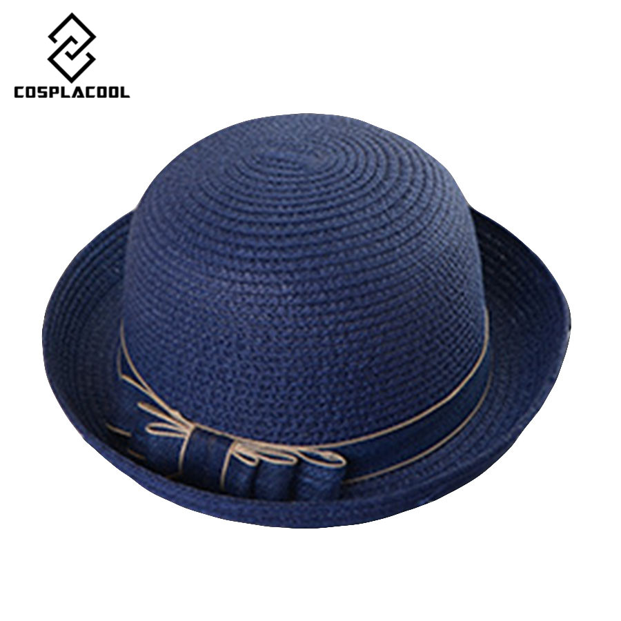 [COSPLACOOL]New The new fashion in the summer Lovely straw hat Sun hat cool comfortable and quick recovery Hat for women(China (Mainland))