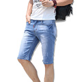 2017 New Fashion Summer Casual Cotton Denim Shorts Straight Men Short Jeans For Youth Brand Clothing