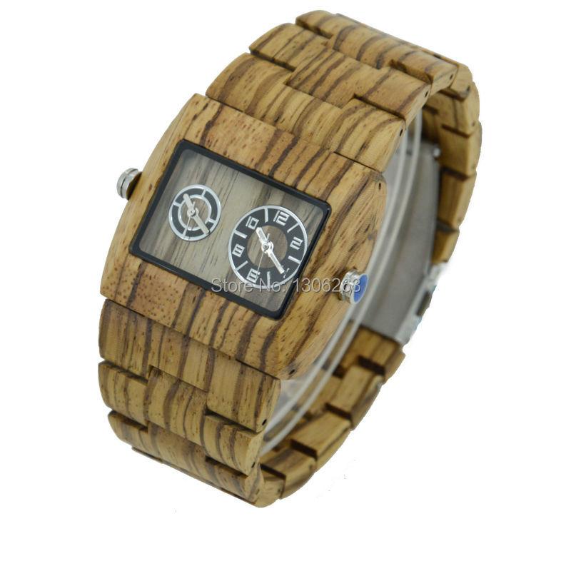Горячее надувательство Мужчины Платье Часы Деревянные Часы BEWELL Япония 2115 Кварцевый Натурального Дерева Часы НОВЫЙ Дизайн Бесплатная Доставка Оптовые