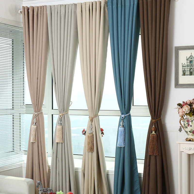 Modern minimalist curtains for living beding dining room for Como hacer cortinas para sala