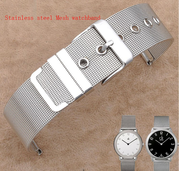 Гаджет  12mm 14mm 16mm 18mm 20mm 22mm 26mm Watchband stainless steel mesh thin for quartz watches Bracelets  for  Hours clock Promotion None Часы