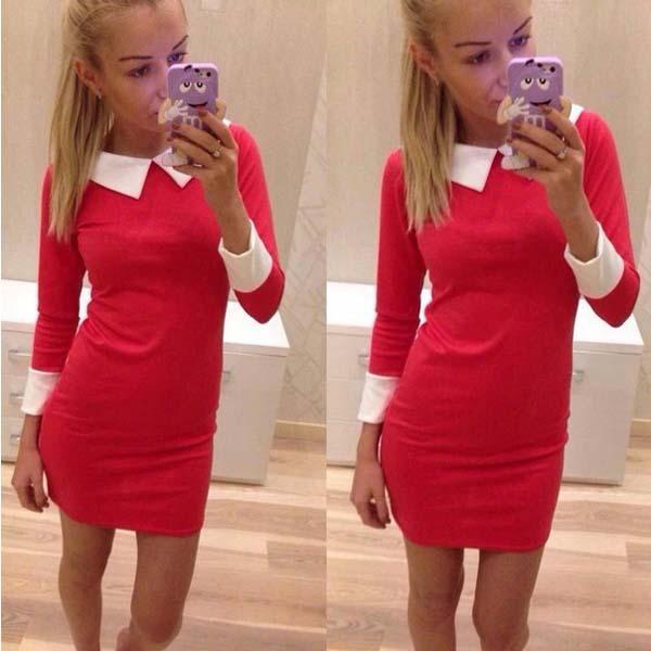 Женское платье ELFIN 2015 vestido QAF019LMX дрель ударная bosch psb 500 ra 0 603 127 021