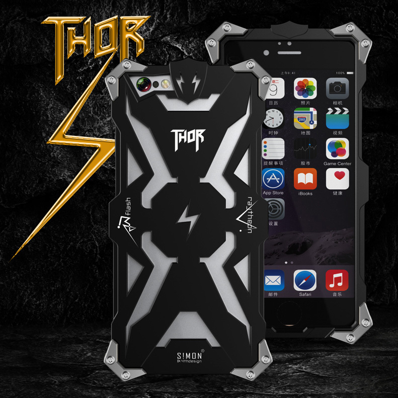 New Original Design metal Shell of Cool Metal Aluminum THOR IRONMAN protection phone cover shell case for iphone 6 6G 4.7inch(China (Mainland))