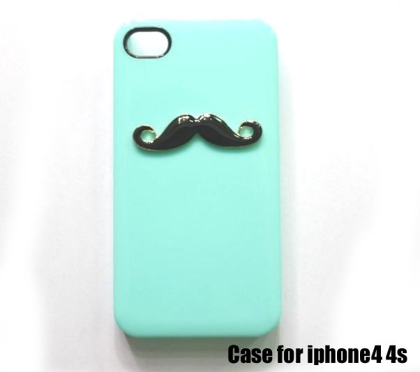 Hot Cute Mustache Cell Phone cases for iphone4 g 4s Free Shipping & Wholesale