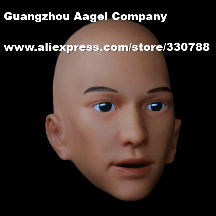 [SH-17] full face mask, realistic silicone masks, masquerade masks men, party mask halloween  -  Guangzhou Angel Company store