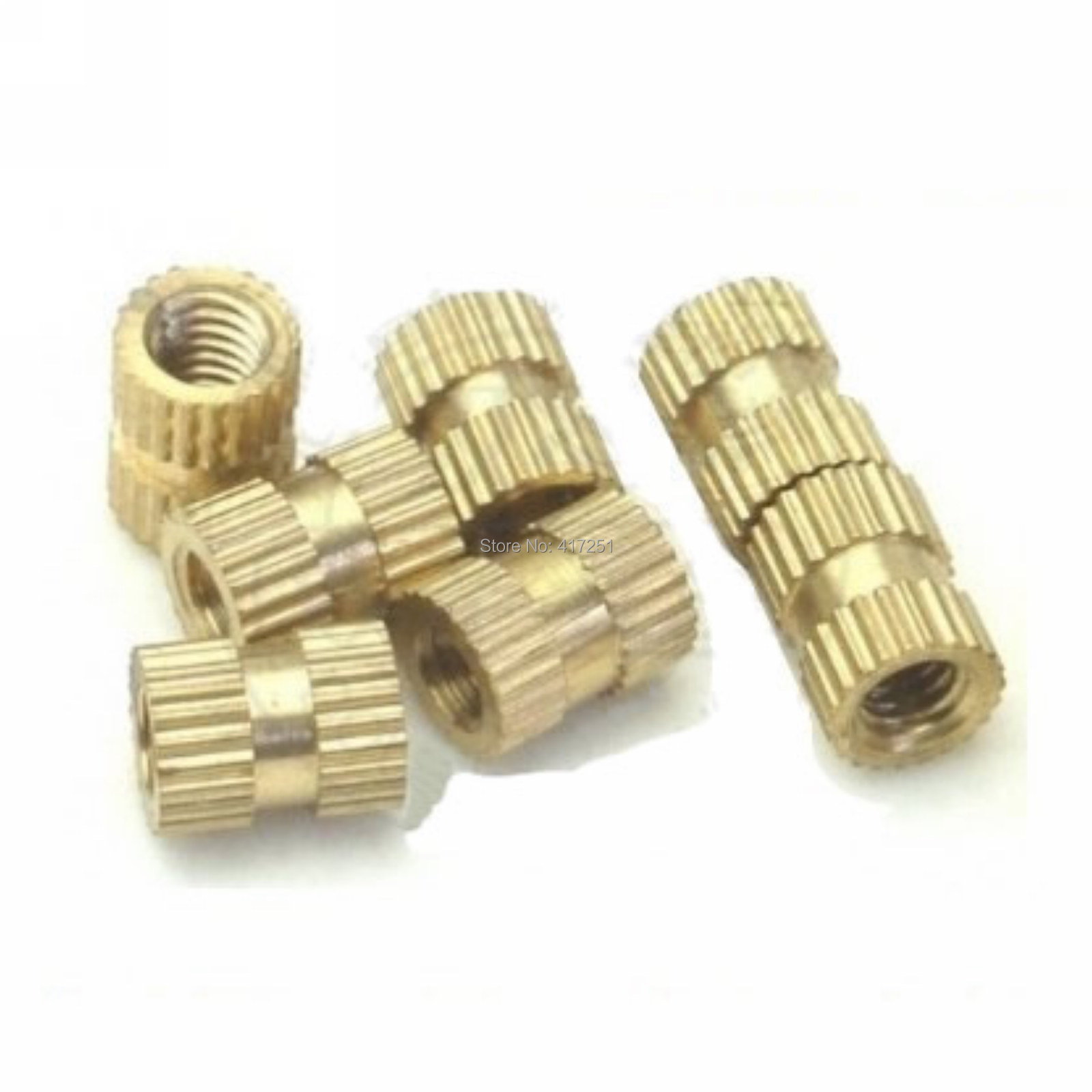 Гаджет  Low price 1 piece Brass Knurl Nuts M8*8mm(L)-10mm(OD) Metric Threaded None Аппаратные средства