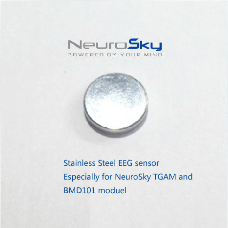 hot sale toyota celica neurosky eeg device brainwave module chip headset tgam bmd101 stainless steel round shape dry sensor