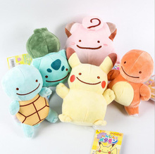 5Styles Pokemon Ditto Transfigurate Pikachu & Bulbasaur Squirtle Charmander Clefairy Kawaii Funny Style Action Figure Toys - Feng Ya boutique store