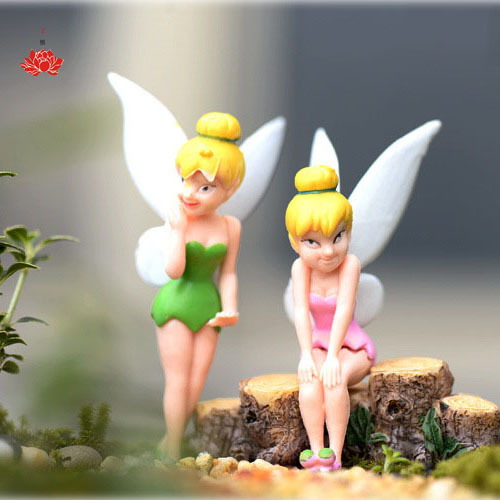 Boneca Tinkerbell Dolls Flower Fairy Adorable Mini Tinker Bell Toy Flying Flower Pretty Doll Action Figure Brinquedo Angel Wing(China (Mainland))