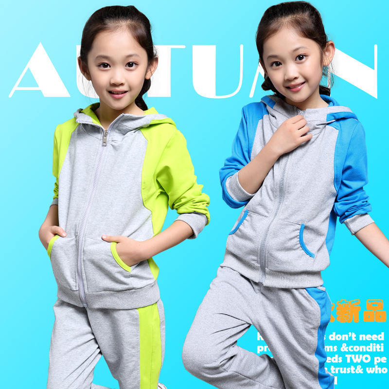 The new high-quality girls sports apparel young fashion french maid clothing big girl hat pants sets children clothing suits(China (Mainland))