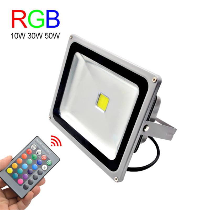 rgb led flood light 10w 30w 50w foco led exterior spotlight ip65 led outdoor light reflector. Black Bedroom Furniture Sets. Home Design Ideas