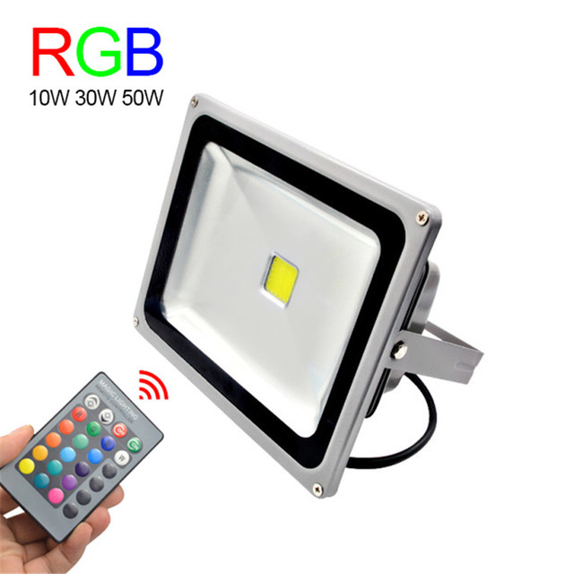 Rgb led flood light 10w 30w 50w foco led exterior for Focos led exterior 50w