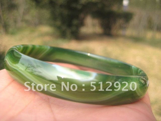 Green Agate bangle,Green Young color