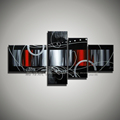 Modern abstract Large black white red hand painted canvas art picture wall art oil painting for