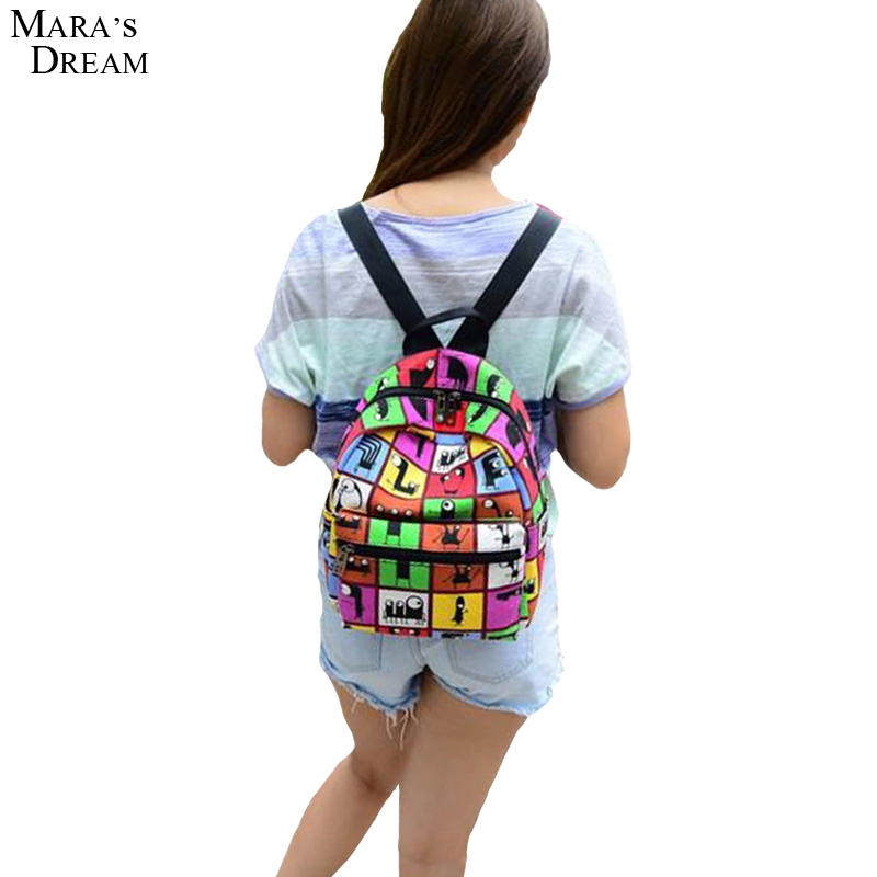 2016 New Woman Backpack Hot Sale Canvas School Bag Printing Lightweight School Backpacks Fashion Women's Bags(China (Mainland))