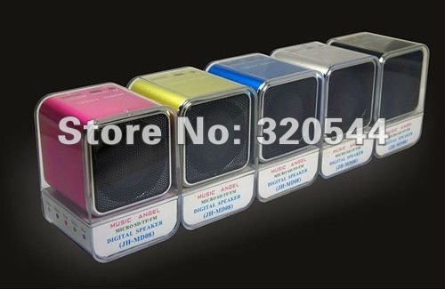 Hot Seller! 200pcs Music Angel MD08 Mini portable speaker good gift for friend free shipping by DHL Original products