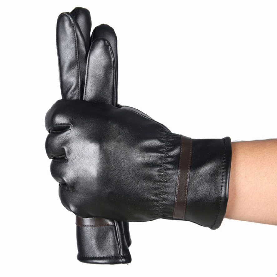 Synthetic leather driving gloves - Brand New Amaizng Fashion Soft Men Fashion Warm Cashmere Leather Male Winter Gloves Driving Waterproof
