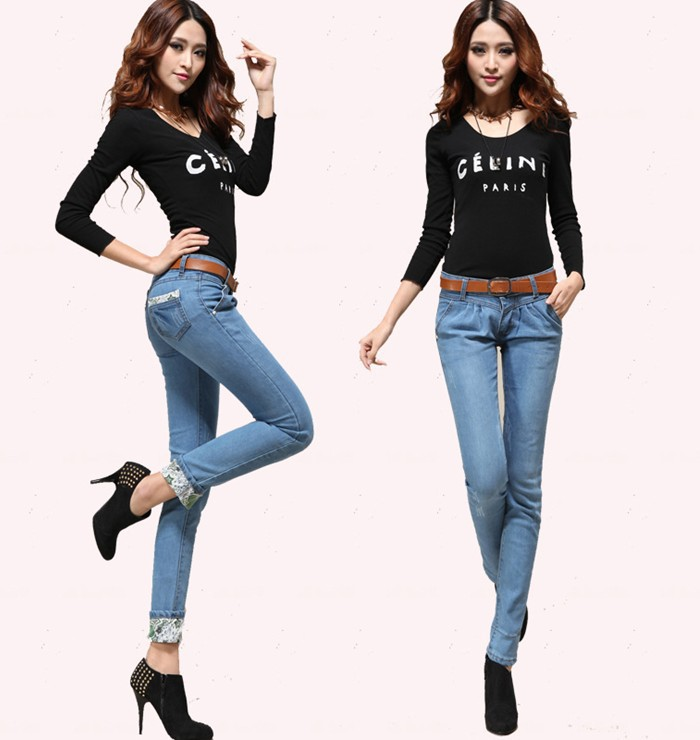 Buy 2013 Spring New Style Women Light Blue Jeans Fashion Trousers Haroun Pants