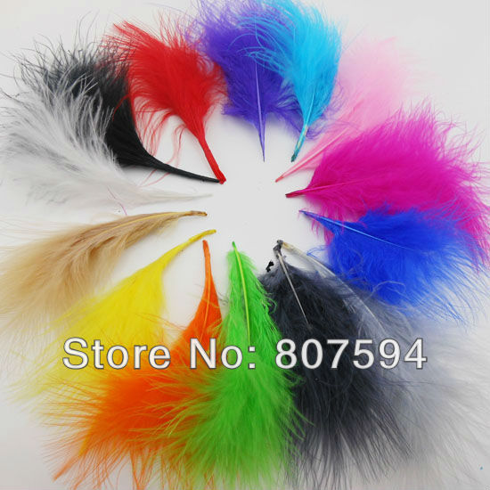Гаджет  retail- 24pc/Lot soft Turkey Marabou Feathers  washed goose down 8-16cm Fluffy Dress/jewelry/Christmas/hat wedding decoration None Дом и Сад