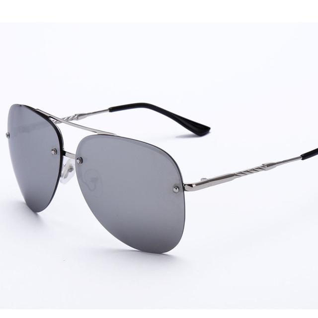 2016 Flight Mirror Lens Sunglasses Rimless Alloy Legs ...
