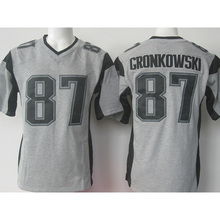 wholesale Men's 11 Julian 12 Tom 87 Rob Brady Adult Edelman Rob Gronkowski Gray Gridiron Gray Limited Free Shipping(China (Mainland))