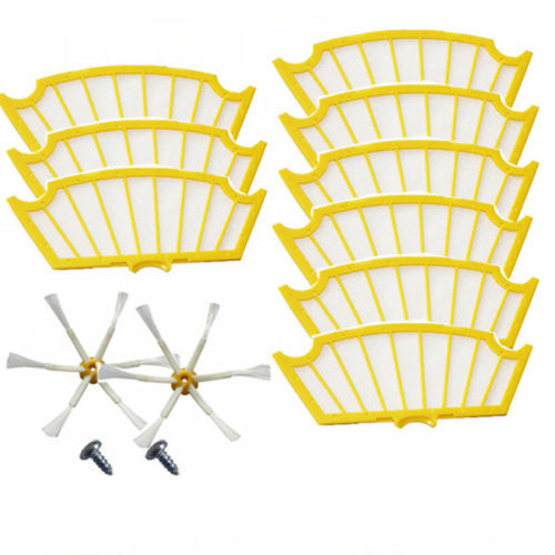Filters + Side Brush 6 Armed &amp; Screws for iRobot Roomba 500 Series  510 530 535 536 540 550 551 552 560 564 570 571 580 610 etc.<br><br>Aliexpress