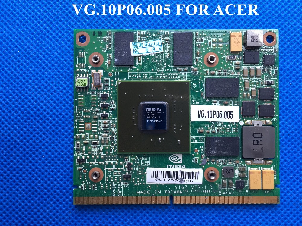 original Vedio CARD for Acer 5739G 5935G 7738G VGA card GT240M MXM III(A) 1GB DDR3 VG.10P06.005 N10P-GS-A2 Fully tested<br><br>Aliexpress