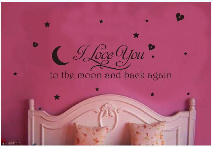 Wall Stickers Stars Heart Bedroom Home Decor Words Wall Decals In Wall