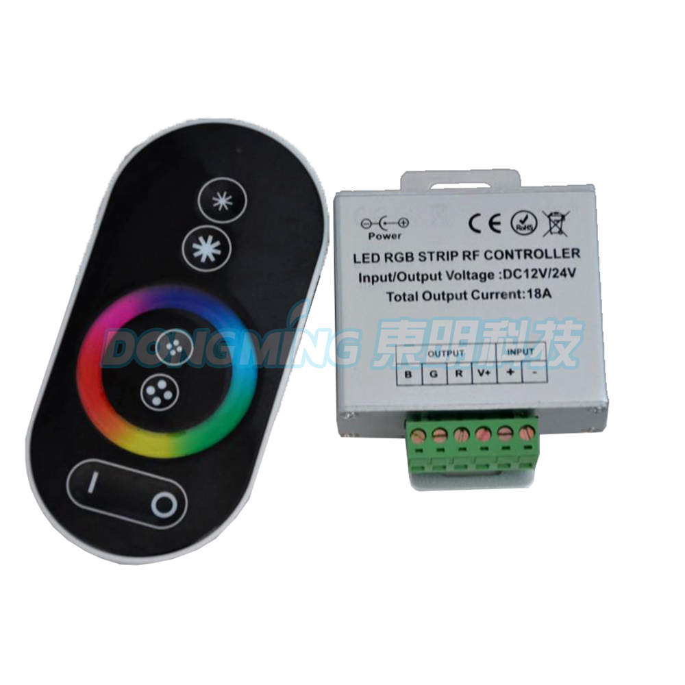 2015 new product new style DC12V 24v 216W Wireless Touch screen RGB controller LED Controller RF Touch led light controller(China (Mainland))