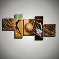 5 panel abstract figure lovers sexy nude art modern canvas wall art handmade love oil painting