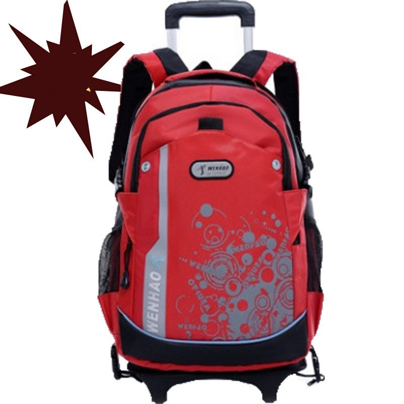 Christmas children Trolley backpack Bow trolley suitcase popular detachable New boy school backpacks free waterproof - GREAT KHAN store