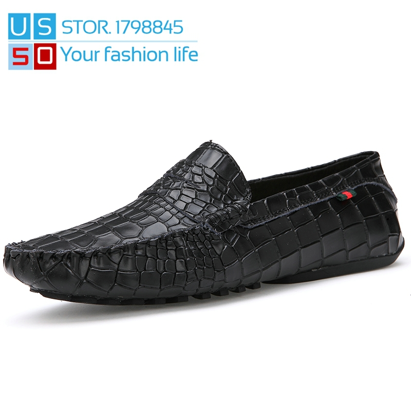 New Alligator Patent Leather Mocassin Men Loafers Shoes Slip-On Driving Boat Pleated Zapatillas Hombre Mocassin Men Oxford Shoes<br><br>Aliexpress